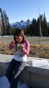 Jadyn with her Snowpeak Cup