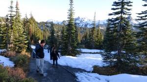 Us hiking on a trail