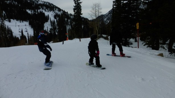 Snowboarding at Snowbird
