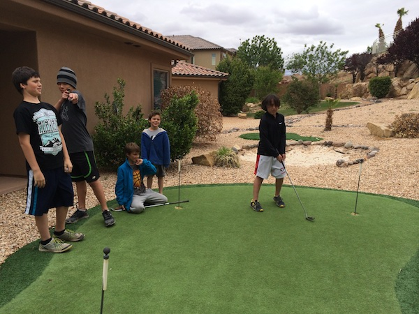 Putt-putt in our backyard